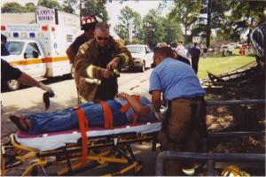 That's me on the stretcher prior to being taken to the ER.