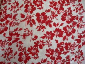 Approximation of red & white floral top