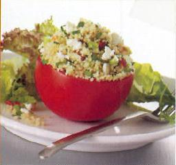 Stuffed Tomatoes with Couscous Tabbouleh