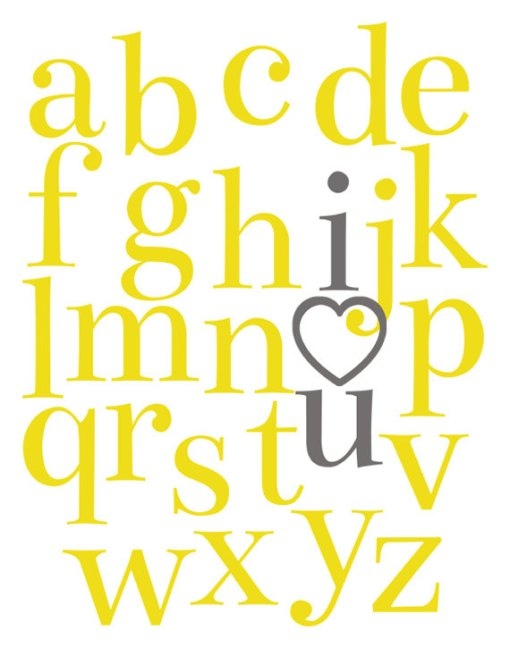 Alphabet I Love You Poster