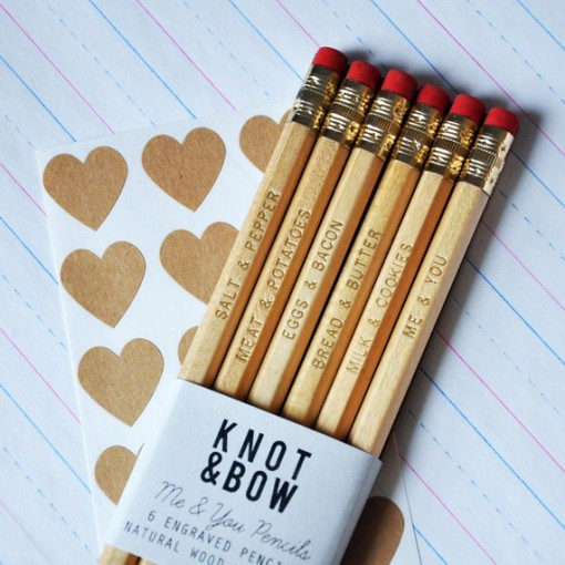 Engraved 'Me & You' Pencils