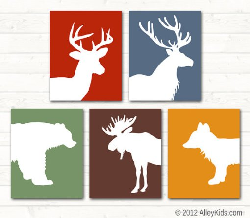 Forest Woodland Nursery Art Animal Prints