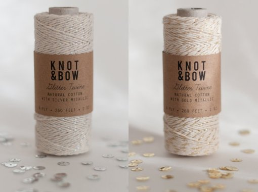 Gold or gold Silver Glitter Twine Duo