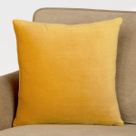 Gold Velvet Throw Pillow