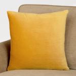 Gold Velvet Throw Pillow