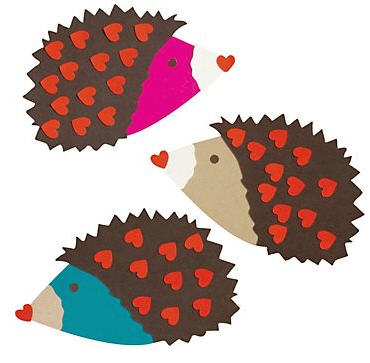 Hedgehogs Valentine Card Kit