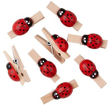 Ladybug Clothespins