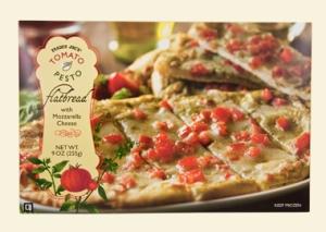 trader joe's pesto and tomato pizza