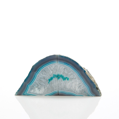 Agate Bookends – Teal