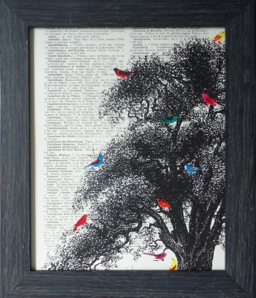 bird art deep in the woods book print