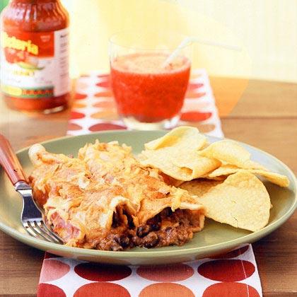 Chili-Cheese Black Bean Enchiladas