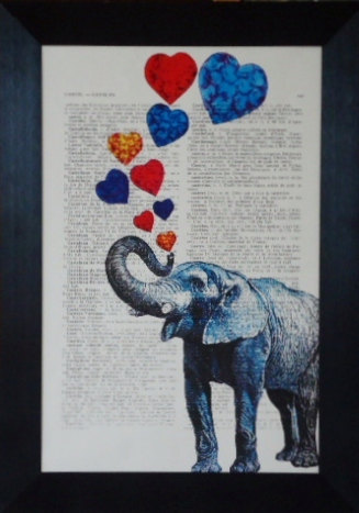 elephant love book print