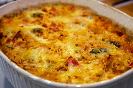 Gluten-Free Cheesy Veggie 'Pasta' Bake
