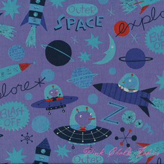 Kokka Nancy Wolff Space Explorers Purple