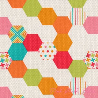 Patty Young Textured Basics Hexies Multi