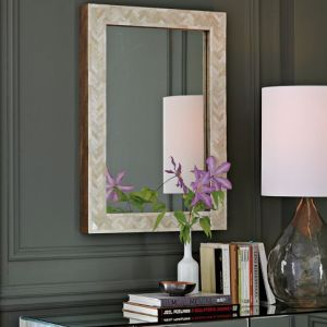 Parsons Wall Mirror - Bone Inlay