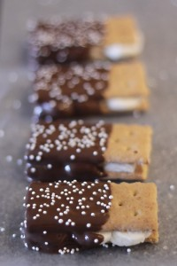 Chocolate Covered S'More Sandwiches 2