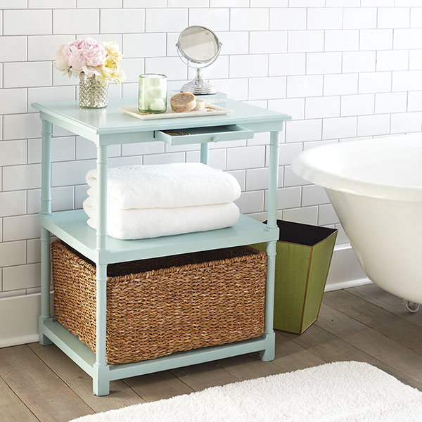 Side table changing my marbles - Rangement salle de bain ikea ...
