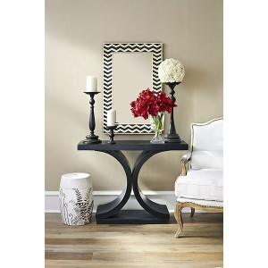 Mid-Century Modern Console Table - Black