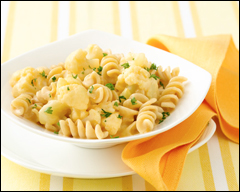 Please Cheese Me - a healthy alternative to mac n cheese (note - for picture source, click the Hungry Girl link above)