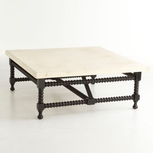 Spanish Travertine-Top Coffee Table