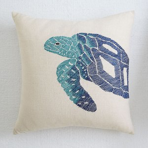 Blue Aquatic Life Pillow Cover
