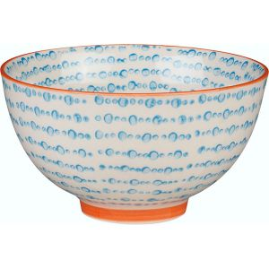 Blue Dot Ceramic Bowl